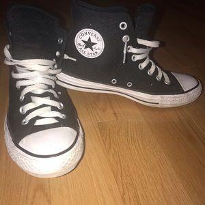 black converse high tops!